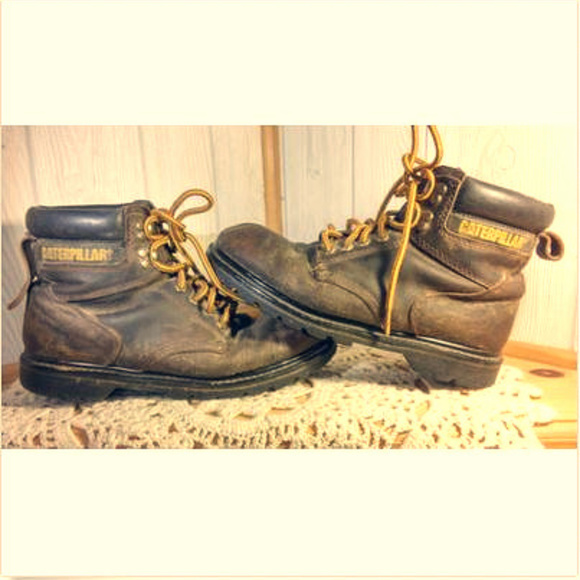 new lower prices choose official classic styles CAT Brown Leather Work Boots ~ Men's Size 9 Wide
